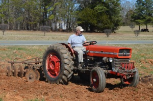 John on the tractor